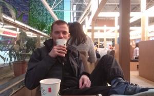 Bakje koffie op Taipei Airport