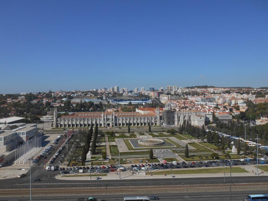 Uitzicht op Belém met het klooster