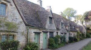 De typische Cotswold-huisjes in Bibury